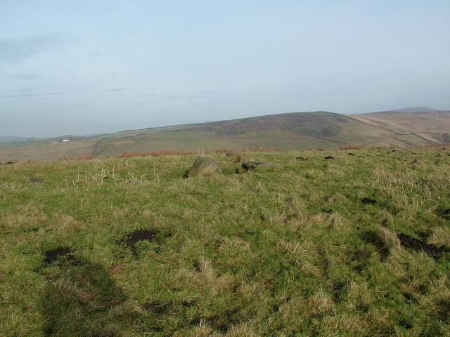 Tumulus on Hameldon Moor