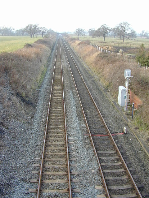 Looking northwest from Milners Heath Bridge.