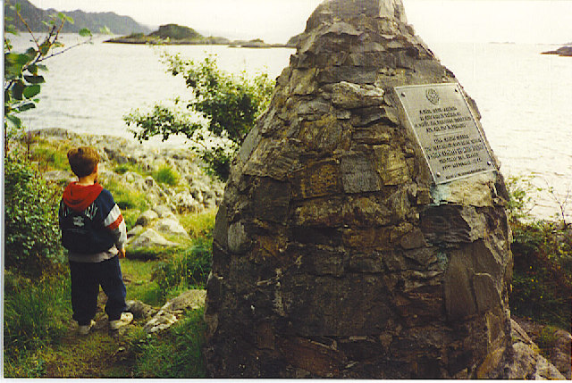 The Prince's Cairn, Loch Nan Uamh.