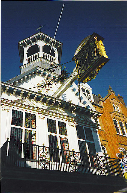 Guild Hall and Overhanging Clock, Guildford.