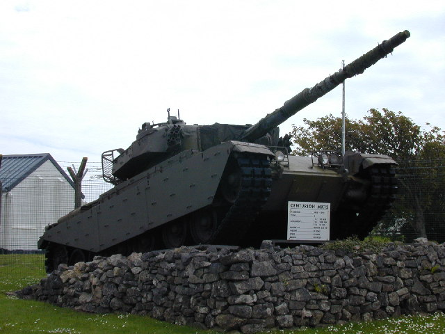 Centurion Mk12 tank at the entrance to Merrion Camp