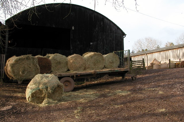 Hay trailer at Pard House Farm