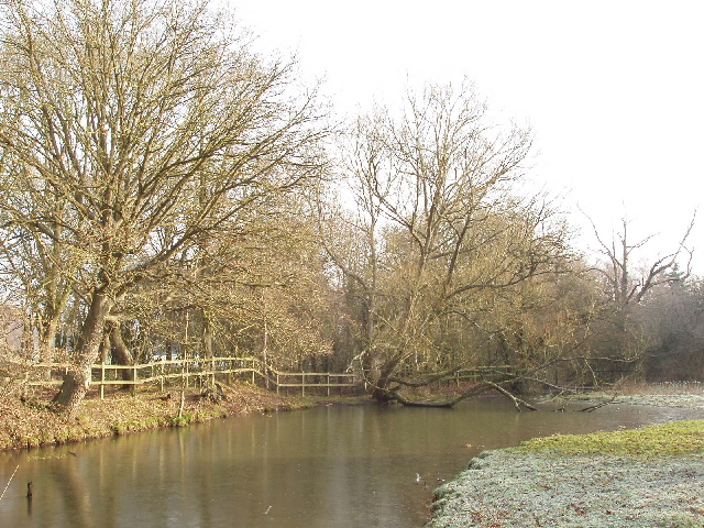 Frozen pond by Copse Wood, Ruislip