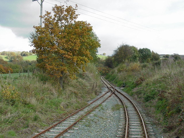 Welshpool and Llanfair railway near Sylfaen Station