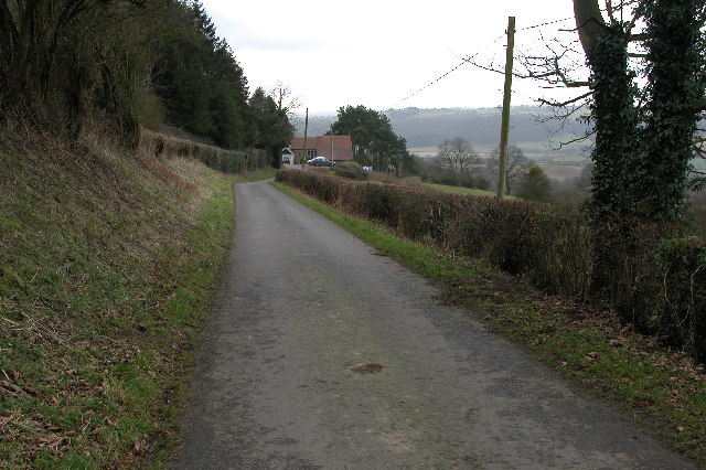 The country lane past Camp Farm
