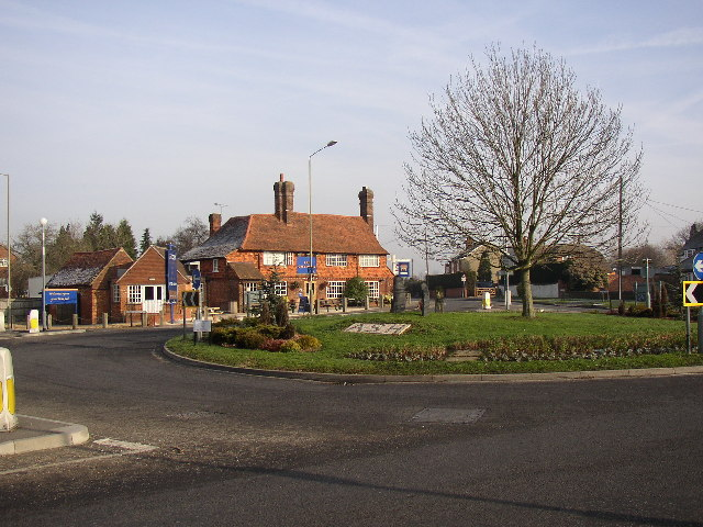 The Greyhound roundabout, Ash, Surrey