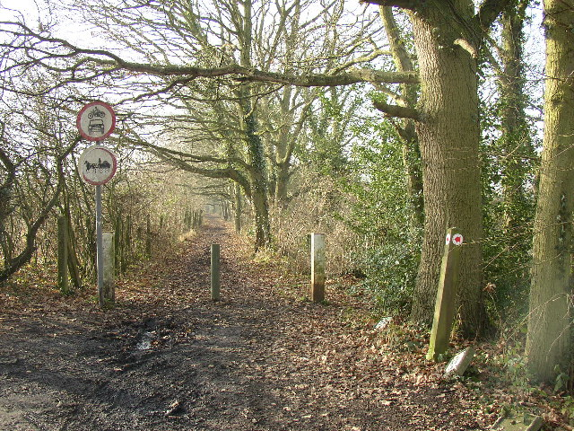 Restricted byway, Ash, Surrey