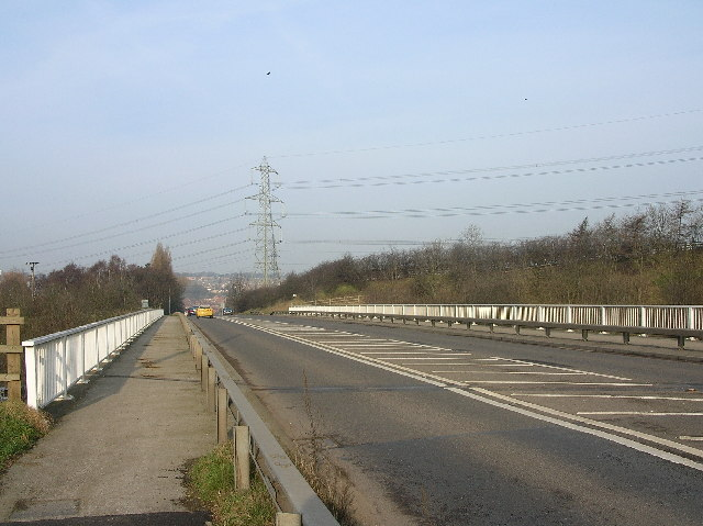 Pleasley Road crossing the MI south of Whiston