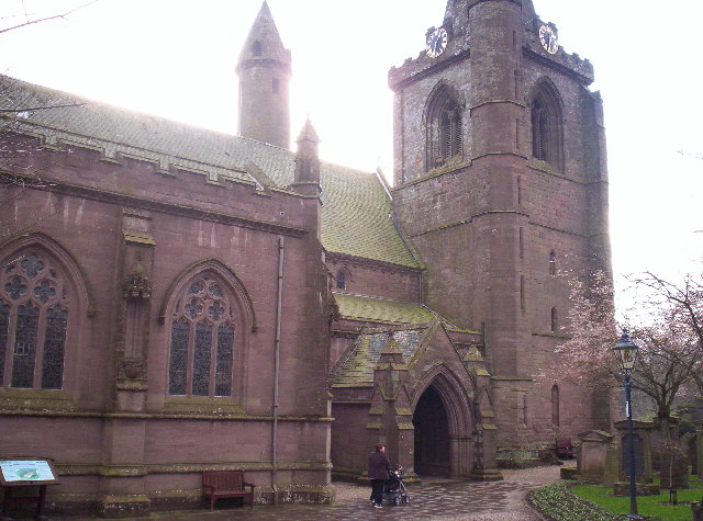 Brechin Cathedral with Round Tower Behind