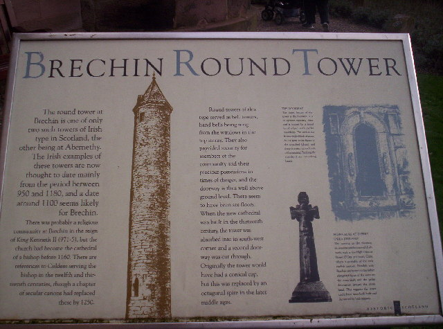 Information Board About Brechin Round Tower