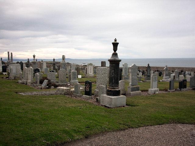 Cemetery near Findochty Moray