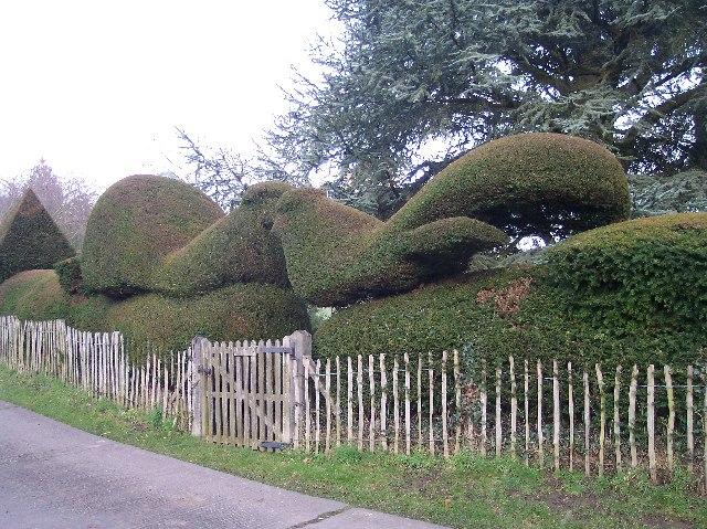 Topiary Birds, Little Malvern Court