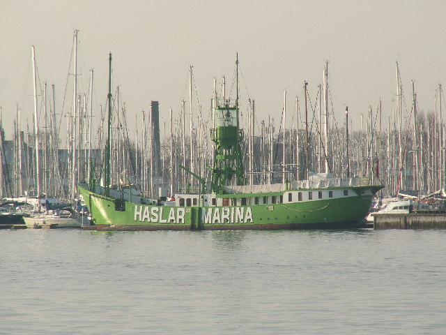 Old lightship at Haslar Marina