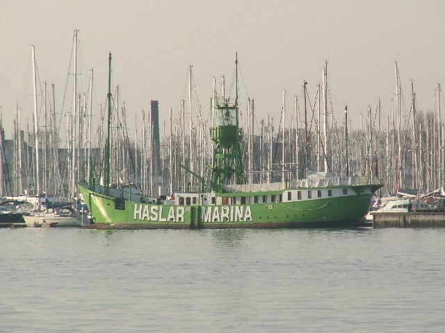 Old lightship at Haslar Marina