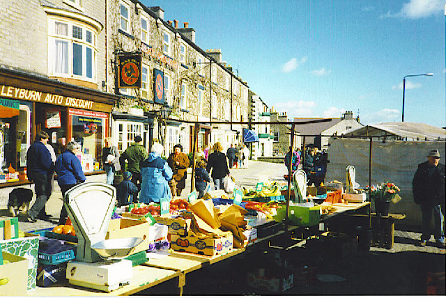 Market Day at Leyburn.