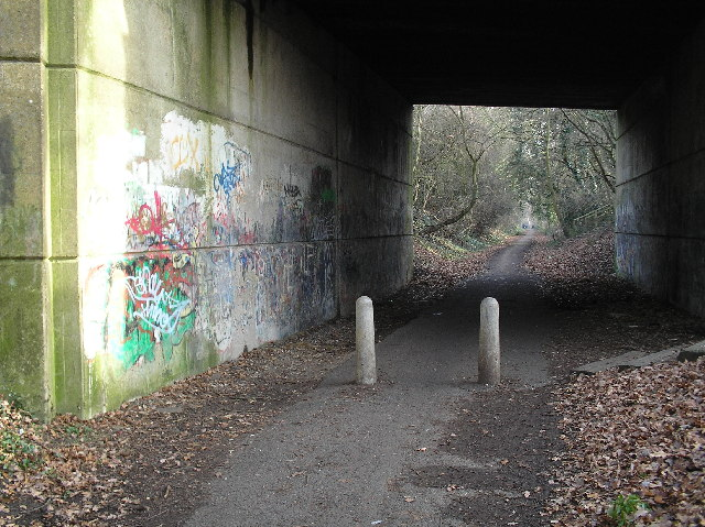 Alban Way, bridge under Ashley Road, St Albans