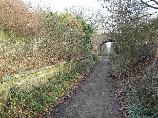 Alban Way, the old Smallford Station platform.