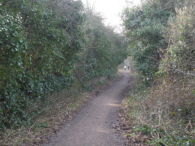 Alban Way. Old Nast Hyde Halt Station. Hatfield.