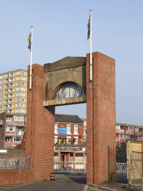 Brewery gates on Ecclesall Road.