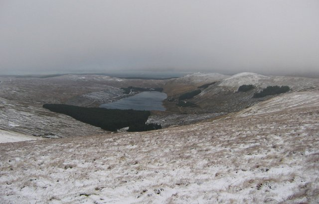 Afton Reservoir from Meikledodd Hill.