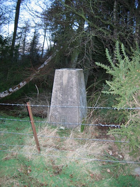 Trig point on Spittalridding Hill