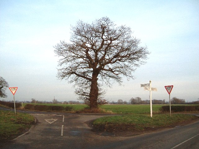 Road junction, Pinwall, Sheepy, Ratcliffe