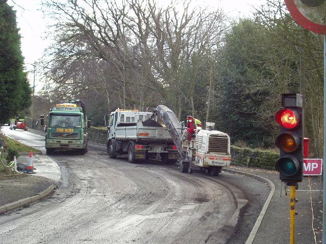 Road repairs, Long Causeway, Adel, Leeds