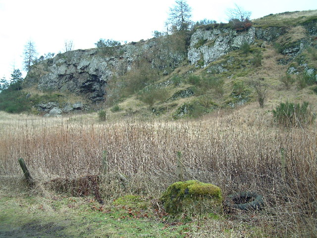 Disused quarry on Glentarkie Hill