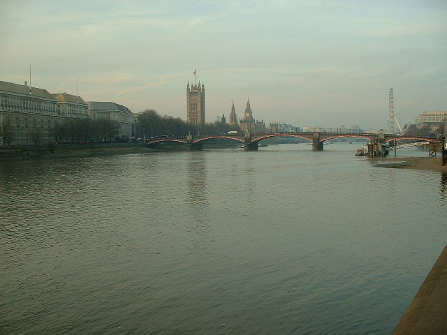 The River Thames and Lambeth Bridge
