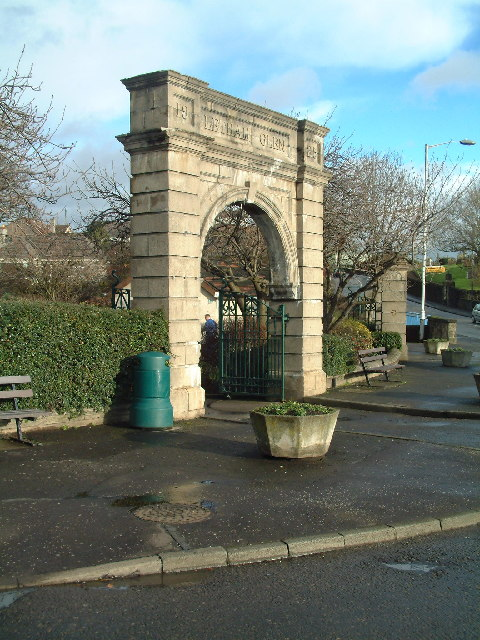 Entrance arch to Letham Glen