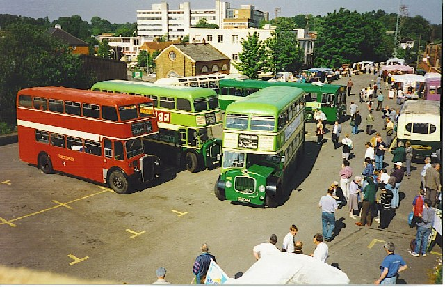 Vintage Bus Gathering at Aldershot Railway Station.
