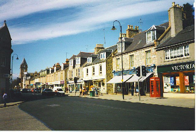 Looking West Along Banchory High Street.