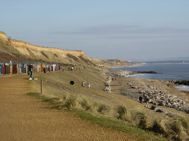 Cliffs and beach at Barton on Sea