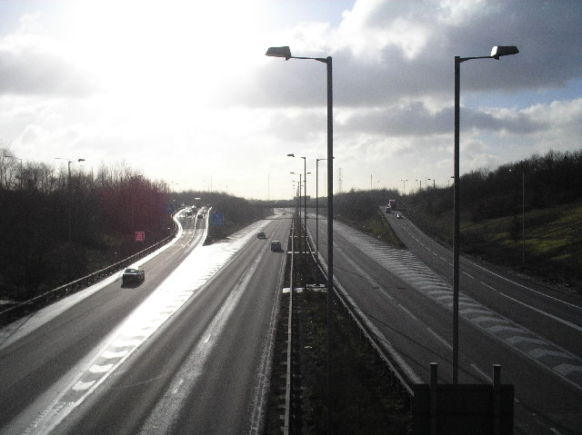 A1(M), south from St Albans Road, South Mimms