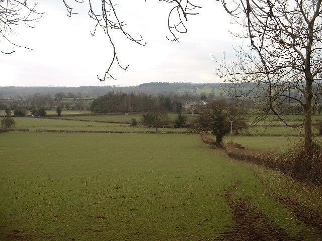 Farmland near Graigfechan