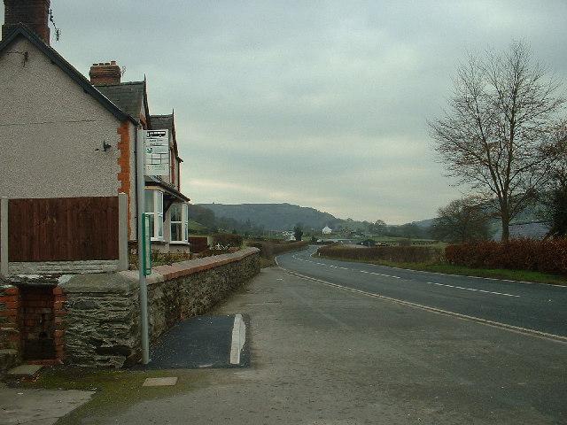 A494 at Pandy 'r Capel