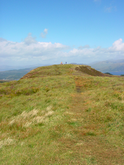 Looking Back to the Trig Point, Beinn Lora