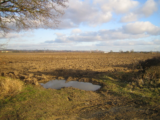 Ploughed field from Saxilby Road