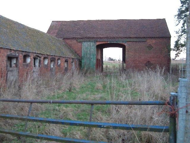 Disused farm buildings, Bentley Hall Farm