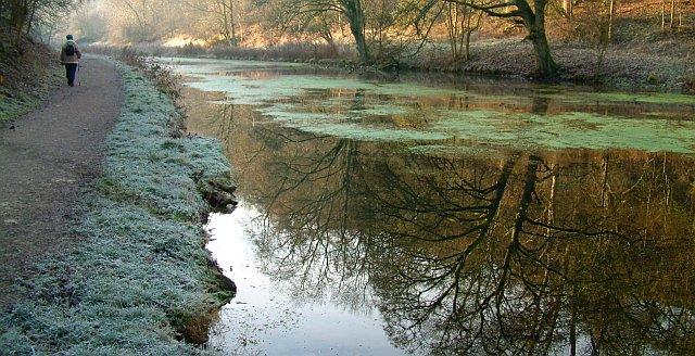 Bradford Dale, Derbyshire in winter