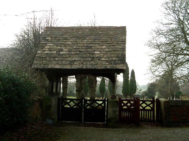 The lych-gate, Baxterley Church