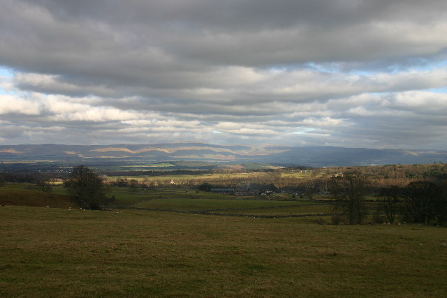 Farmland and View over Eden Valley