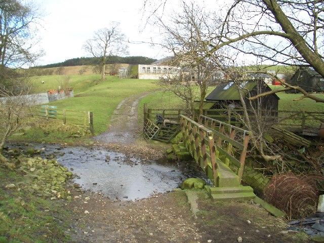 Footbridge near Dinkling Green Farm
