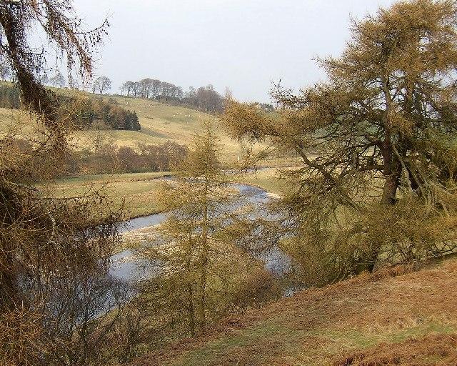 River Coquet looking towards West Hepple