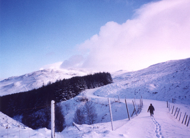 The road to Loch Breaclaich