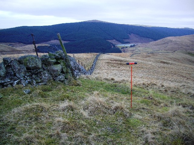 Dyke on Open Hillside