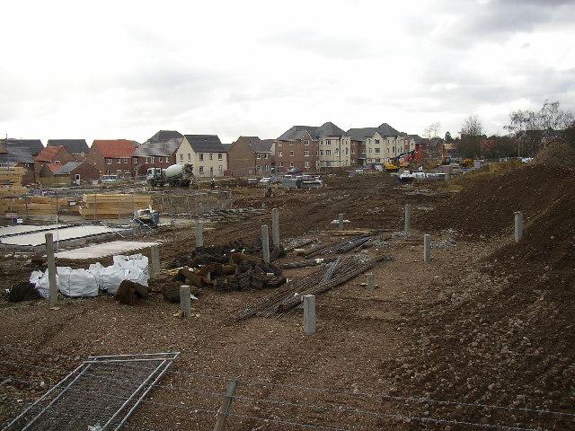 Building site at Deadbrook Lane, Aldershot, Hampshire