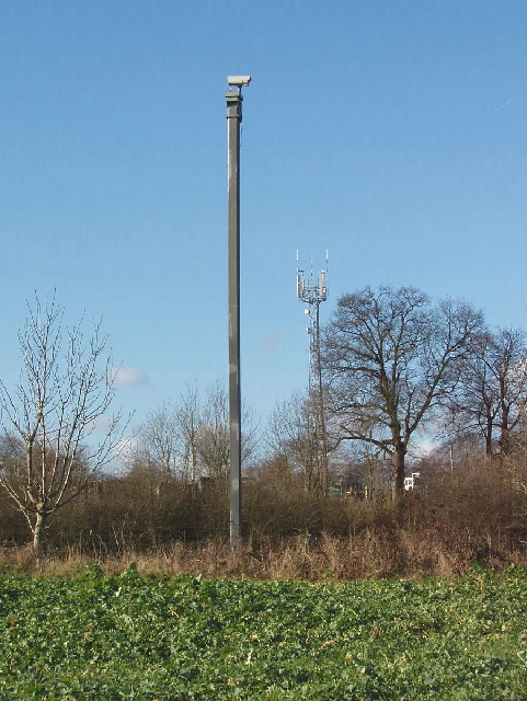 Big Brother is watching you!  CCTV near Chalfont Common