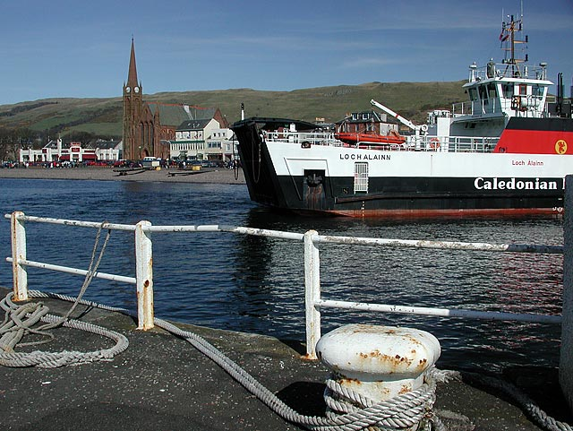 The ferry arrives