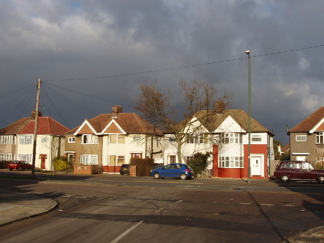 Nelson Road, Whitton - sun and dark sky